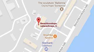 map to Moscow office